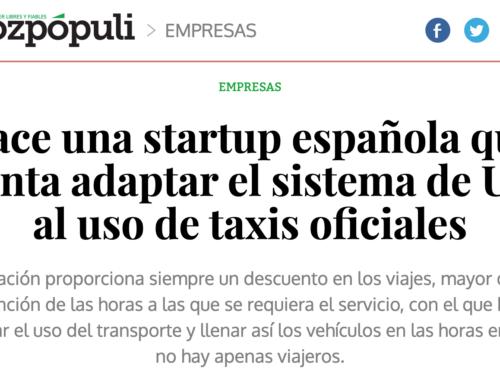 Nace una startup española que intenta adaptar el sistema de Uber al uso de taxis oficiales