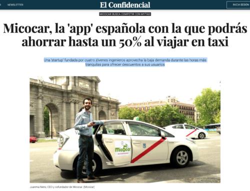 Micocar, la 'app' española con la que podrás ahorrar hasta un 50% al viajar en taxi (El Confidencial)