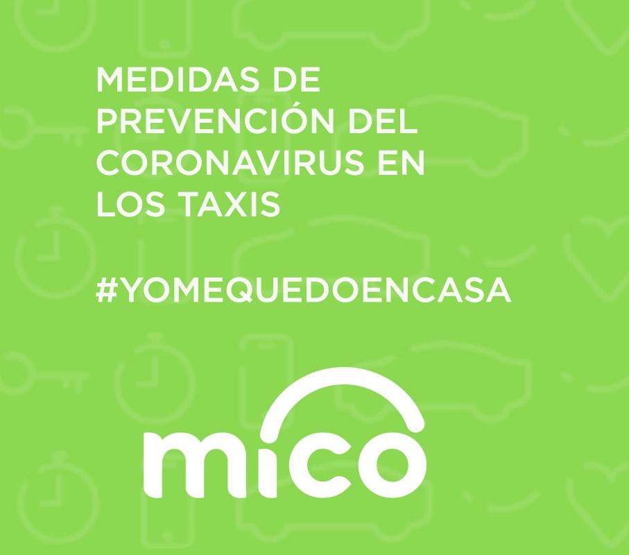 Medidas de Mico contra el Coronavirus en el taxi